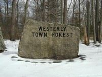 Westerly Town Forest Entrance Rock