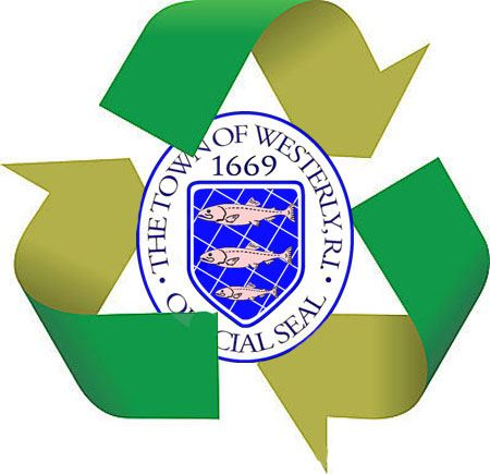 Recycle Logo With Town Seal Inside